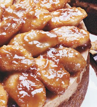 Peanut Butter Cheesecake with Caramelized Banana Topping (if you know ...