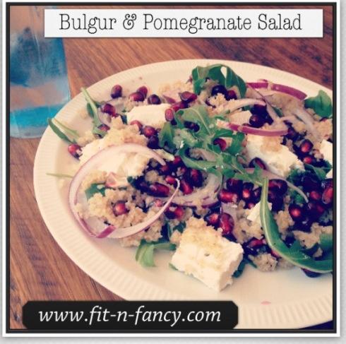 Bulgur and Pomegranate salad www.fit-n-fancy.com