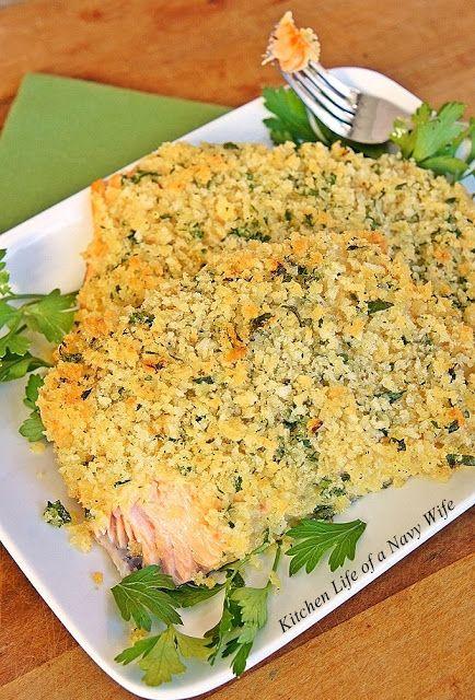 Panko Crusted Baked Salmon | Interesting edibles! | Pinterest