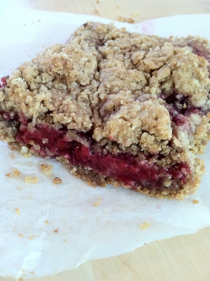 Raspberry Breakfast Bars Recipe — Dishmaps