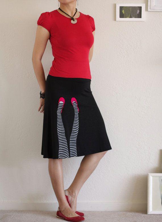 knee length a line skirt style