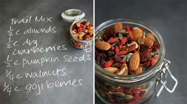 Cranberry, pumpkin seed, almond & Goji berry trail mix.