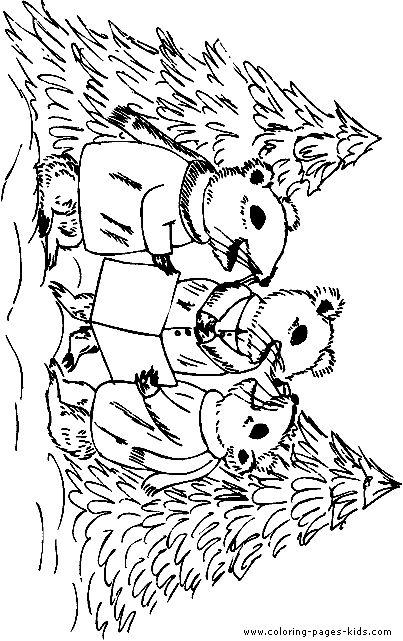 mice singing christmas carols color page