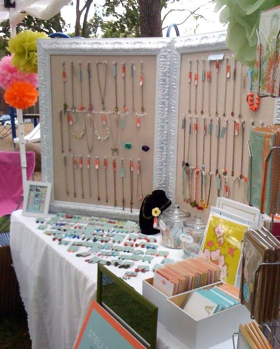 Stella hodge nice set up fashion pinterest for Display necklaces craft fair