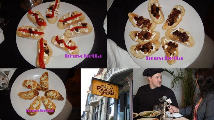 best bruschetta appetizers served at  Black Sheep, Whitewater, Wisc (Chef Tyler Sailesbery) www.eatatblacksheep.com