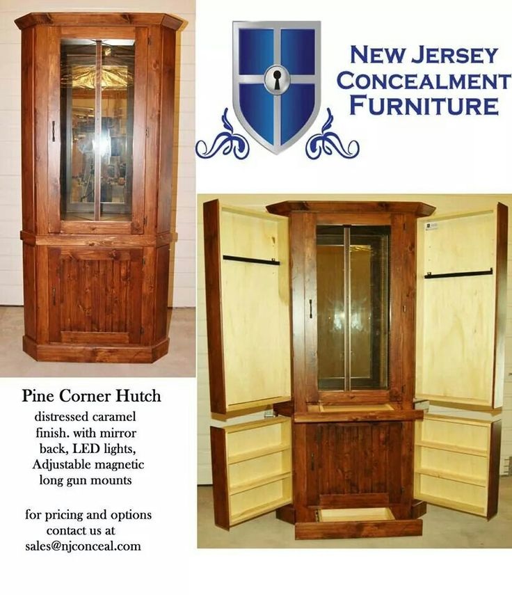 Concealment furniture with keypad entry