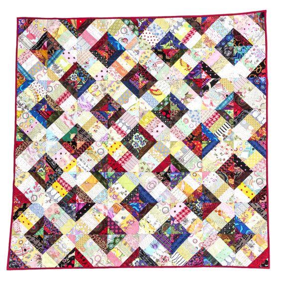 Trellis Quilt Pattern Easy Quilt String Quilt by KarenGriskaQuilts Easy Scrap Quilt Patterns