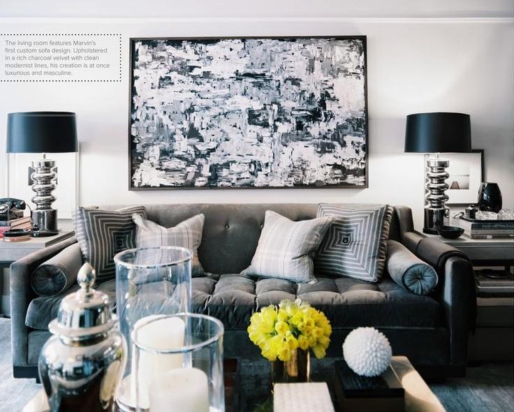 Masculine living room apartment wish list pinterest for Masculine living room ideas
