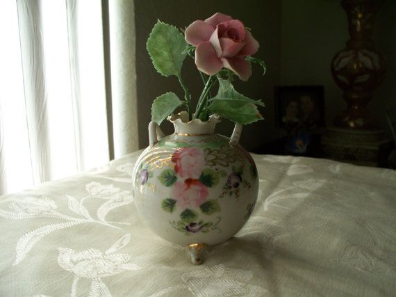 Victorian Porcelain Pink Cabbage Rose Bud by enchantedmistdesigns, $65 ...