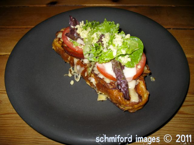 French Toast BLT with Roasted Garlic Vinaigrette