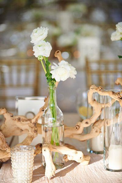 Driftwood centerpiece wedding bells pinterest