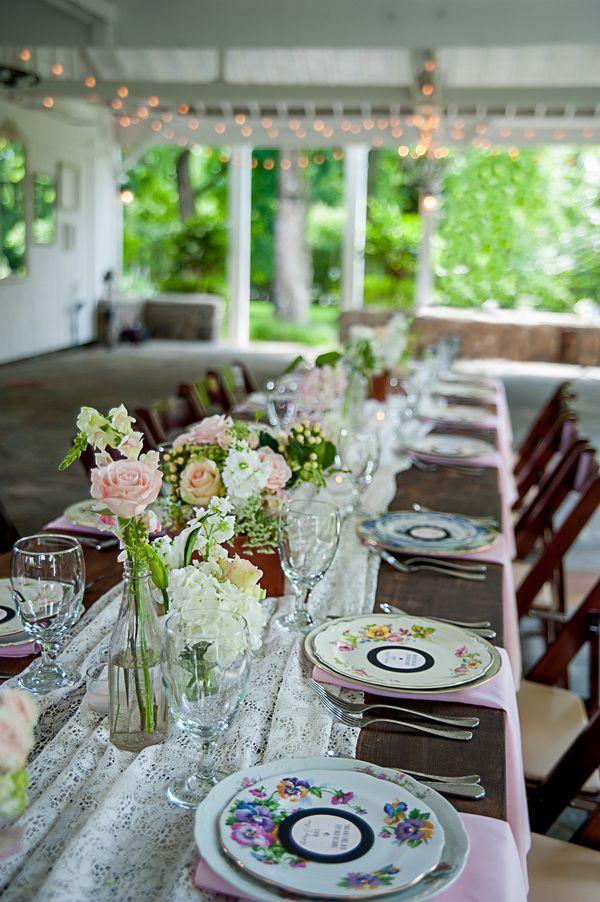 Vintage Wedding Tablescape Ideas Nuptials Pinterest