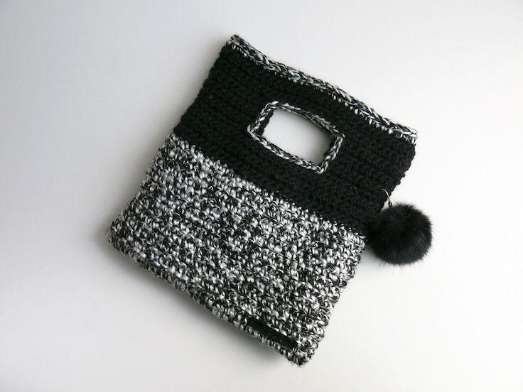 crochet clutch bag crochet Pinterest