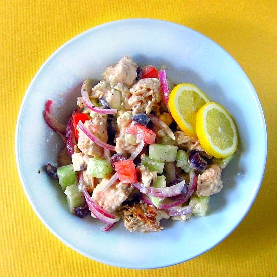 Chicken Souvlaki Salad | PheNOMenal Phoods | Pinterest