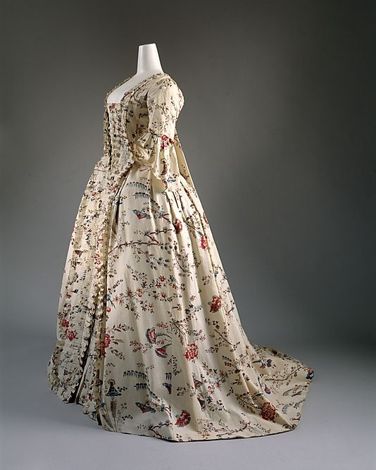 Dress    Date:      1750–75  Culture:      French  Medium:      cotton Met Museum
