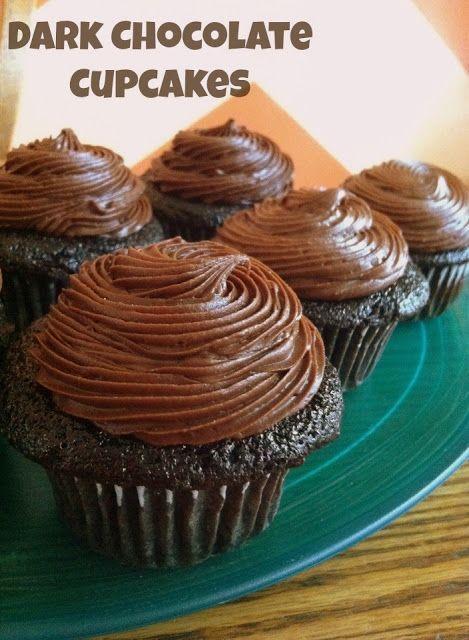 Dark Chocolate Cupcakes | Cupcake & Mini Cake Delights | Pinterest