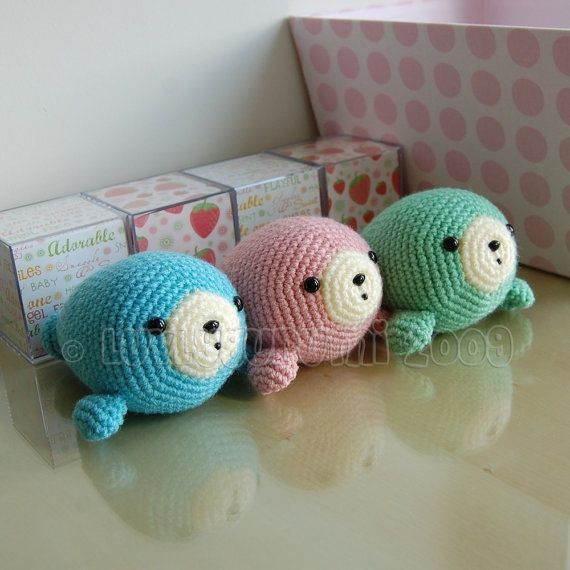 Stitch Amigurumi Crochet Pattern : amigurumi seal pattern. Kids are alright Pinterest