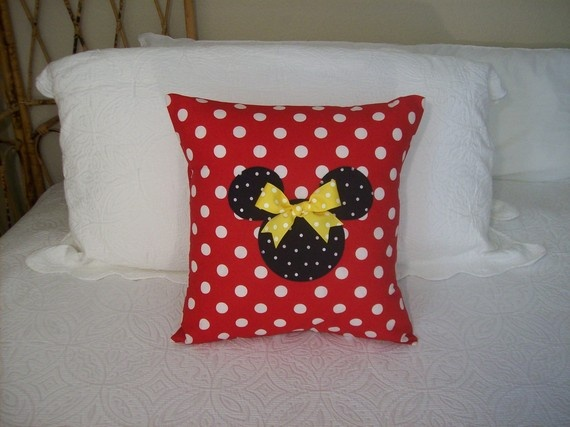 Minnie Pillow (also comes in Mickey) - etsy seller MinniesPillowTalk