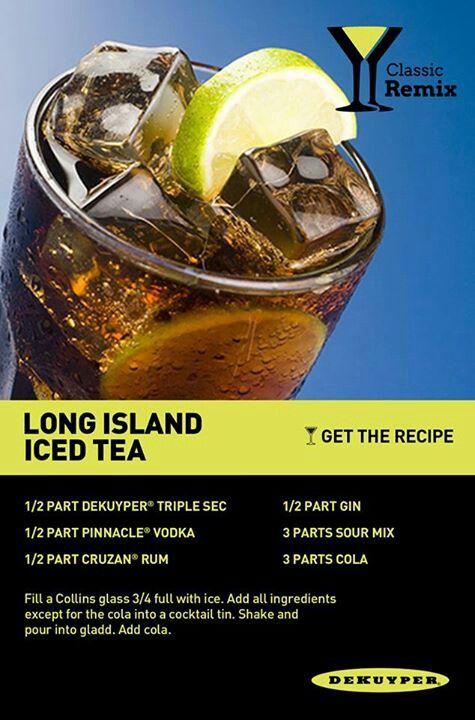 Long island ice tea | Adult Drinks | Pinterest