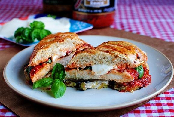 Chicken & Eggplant Parmesan Panini