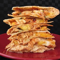 BBQ Chicken Peach Quesadillas This something different