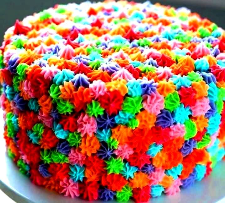 color cake icing