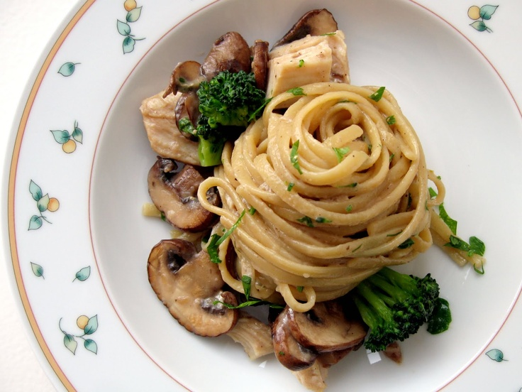 ... with Sauteed Mushrooms, Chicken, and Broccoli -- totally yummy