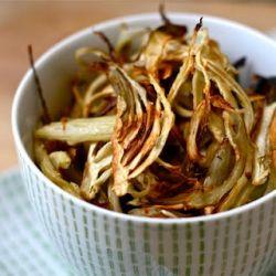 ... kale chips, try fennel chips! Baked with Parmesan, lemon & sea salt
