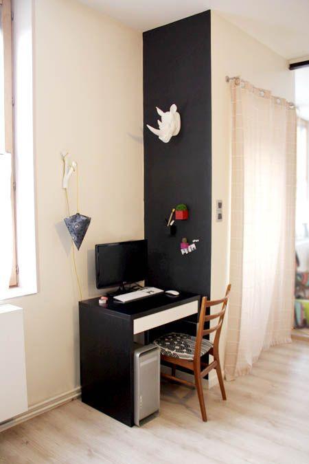 coin bureau mur peinture aimantée  MAISON : aménagement, mobilier ...