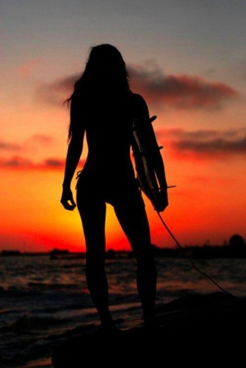 Sunset Surfer  Beach amp; Bikini Babes  Pinterest