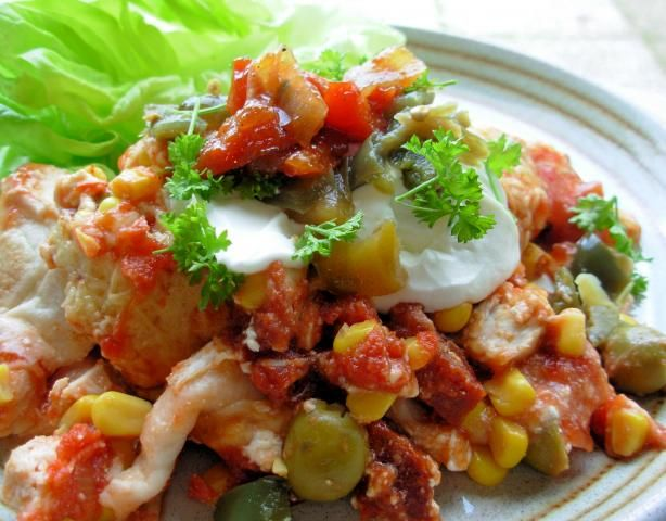 Smoky Chicken and Chorizo Mexican Enchilada Baked Casserole. Photo by ...