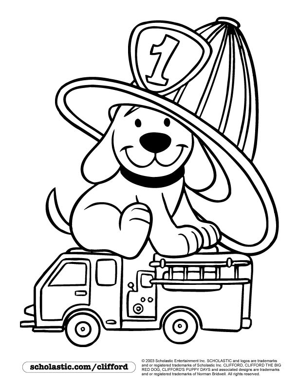 clifford preschool coloring pages - photo#1