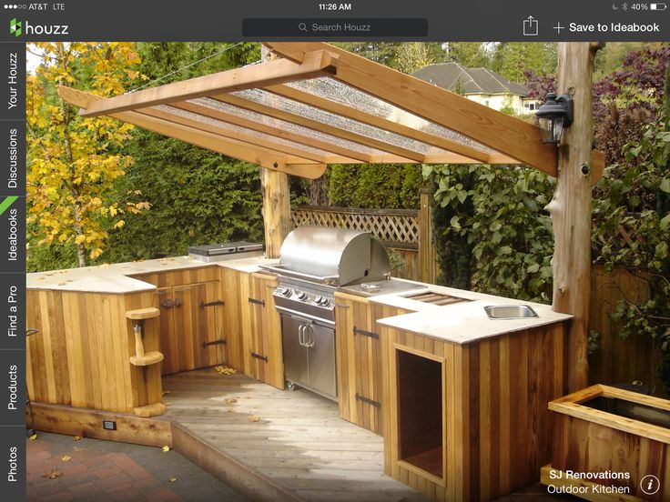 Simple outdoor kitchen next house ideas pinterest for Simple outdoor kitchen designs