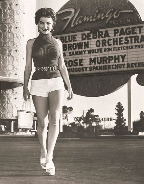 Debra Paget at the Flamingo...