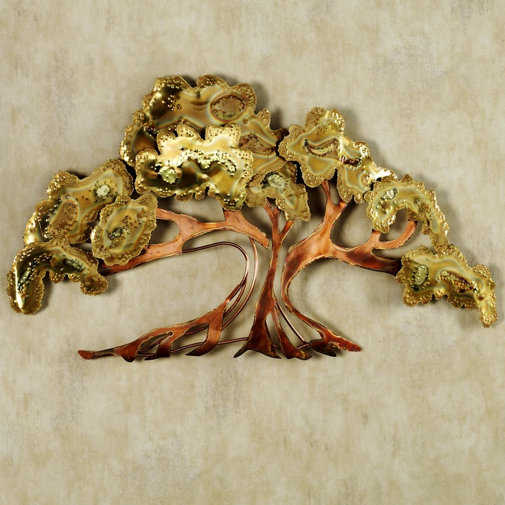 Oriental Metal Wall Decor : Handcrafted of flame finished metal and hand burnished