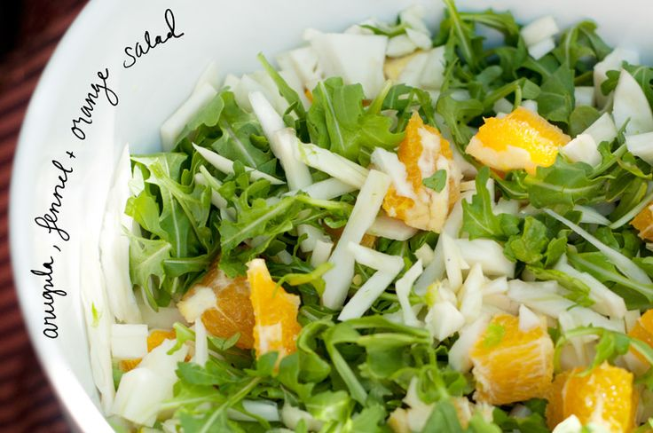 Arugula, oranges and fennels salad BBQ...tzatziki potato salad; a raw ...