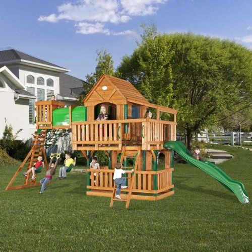 Big Backyard Daycare :  Playset in Brown Backyard  Santas gift  Is a big one this year