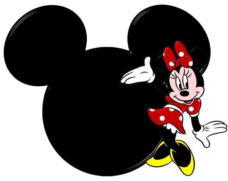 Siluetas de la cabeza de Minnie .