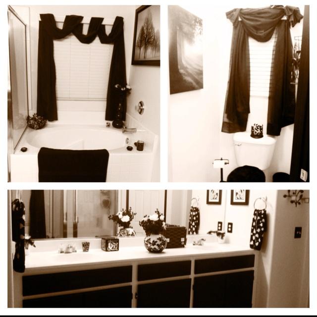 Black amp white bathroom decor bathroom ideas pinterest
