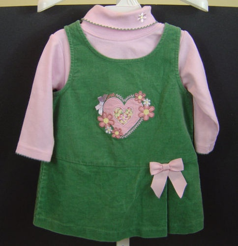 Baby girl s 9 12 mos 12 bonnie baby valentine 2 pc jumper with top