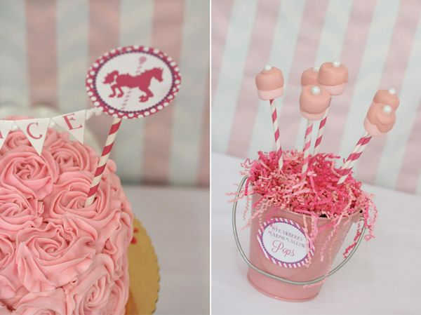 Pink and Purple Carousel Birthday Party Supplies Ideas  ~ 214028_Birthday Party Ideas Pink