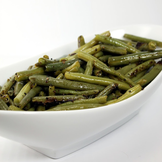 Easy and healthy side dish! Steamed green beans sauteed in olive oil ...