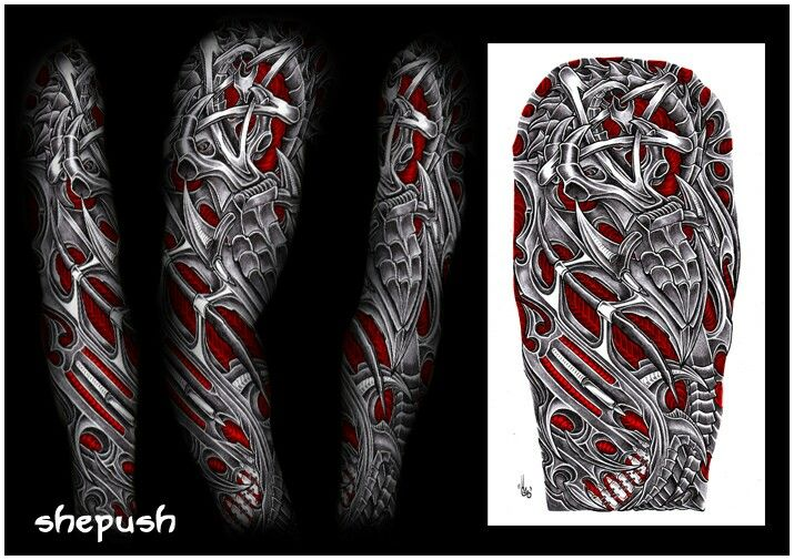 bio mech tatoos on pinterest biomechanical tattoo tribal tattoos and sleeve. Black Bedroom Furniture Sets. Home Design Ideas