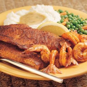 ... Cajun Spice, and served with 8 large Shrimp sautéed Cajun style. Joey