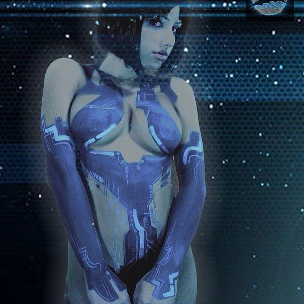 body Halo paint cortana