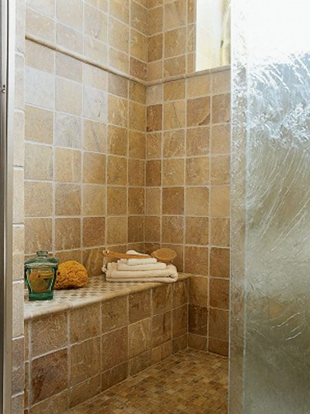 Tumbled marble shower wall designs tumbled marble for Tumbled marble bathroom designs
