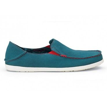 Olukai Womens Shoes Nohea Canvas Ocean Depth Deep Guava www.hansensurf