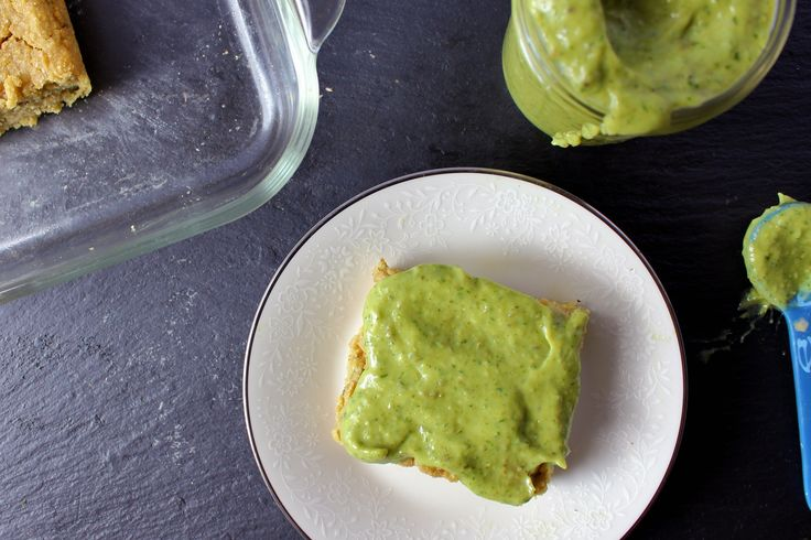 Vegan Cornbread w/ Roasted Poblano Crema | vegan snacks | Pinterest