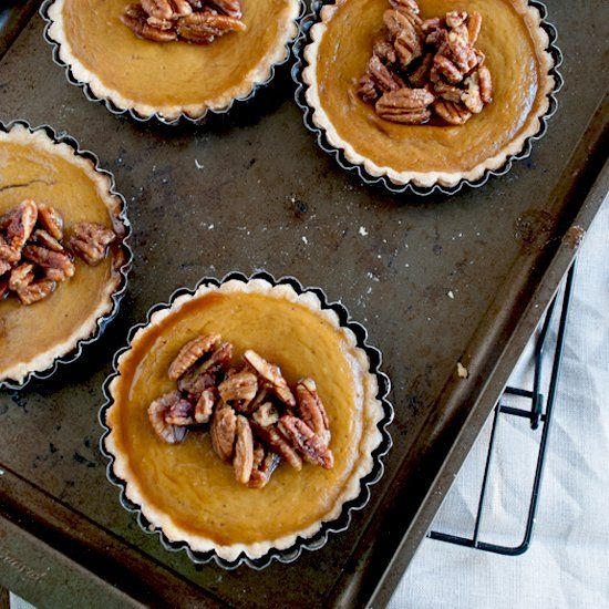 Mini Pumpkin Pies with maple pecans | Easy as Pie | Pinterest