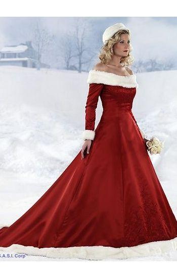 Winter Wedding Dresses With Fur Trim 28